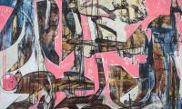 Losing time, 2019, 110 x 160 cm, Acryl auf Hartfaser