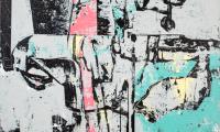Styrofoam boots / It´s all nice on, 2019, 120 x 120 cm, Acryl auf Leinwand