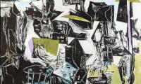 Let the bells ring, 2018, 110 x 160 cm, Acryl auf Hartfaser