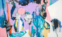 Blush unseen, 2019, 100 x 150 cm, Acryl auf Leinwand